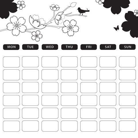 Как нарисовать календарь своими руками