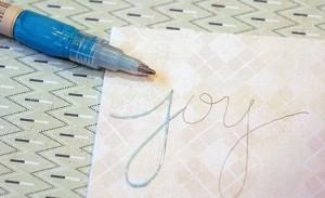 Как сделать красивую надпись в открытке