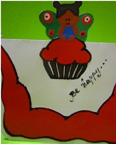 Как сделать выпуклые открытки с днём рождения.