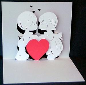 объемная открытка с ангелочками