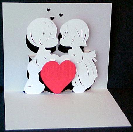 Объемная открытка с ангелочками открытки своими руками