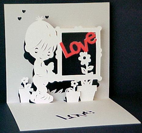 Красивая объемная открытка признание в любви открытки своими