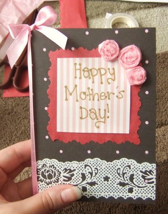 Открытка мамы на день рождения своими руками