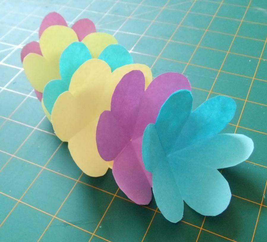 Объемная открытка с цветочками 36
