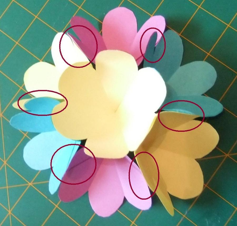 Объемная открытка с цветочками 80