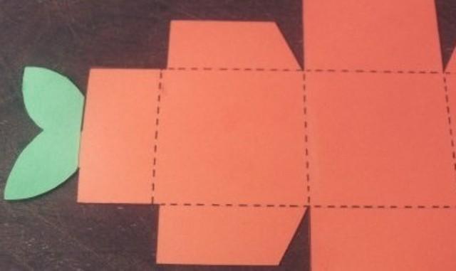 Коробочка закрытая из бумаги оригами