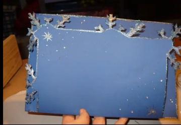 рождественская открытка своими руками МК