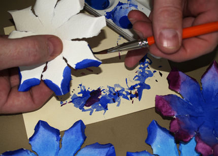 Открытка с весенними цветами