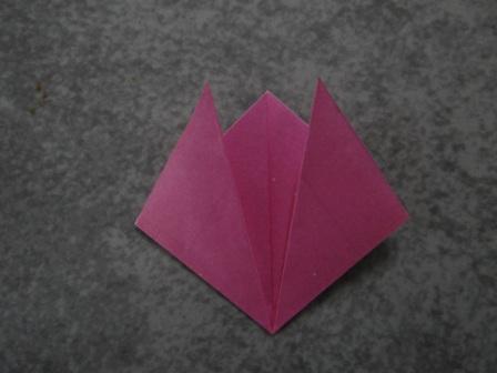 Открытка оригами Тюльпан (10)