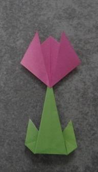 Открытка оригами Тюльпан (6)