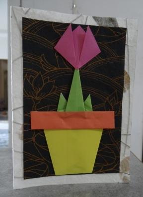 Открытка оригами Тюльпан (1)