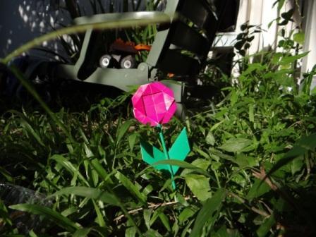Открытка оригами Ромашка (3)