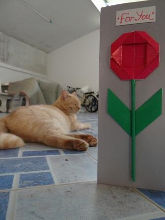 Открытка оригами Ромашка (2)