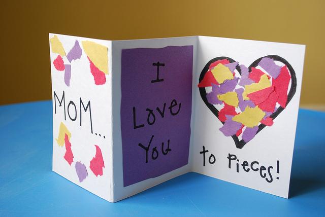 Как сделать открытку на матери