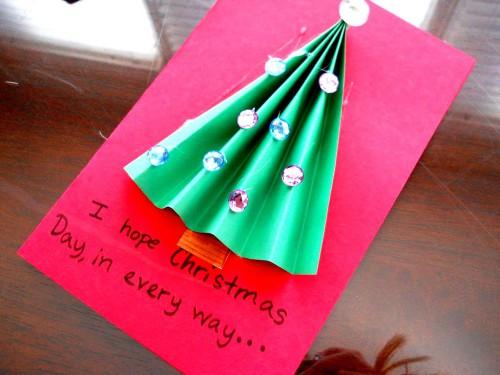 Новогодние и рождественские открытки - рождественские открытки своими руками  (1)