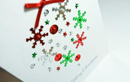 Открытка ручной работы на Новый год (1)