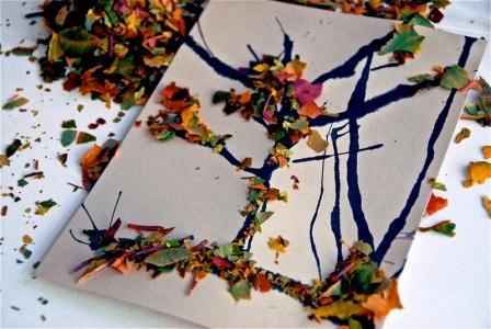 осенние открытки картинки своими руками