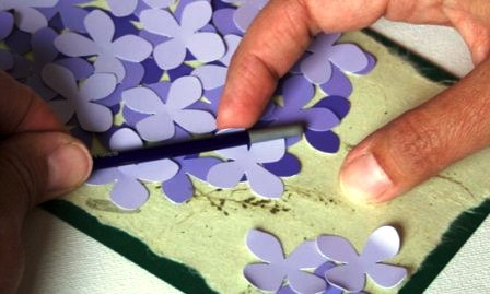Открытка своими руками - цветок (5)