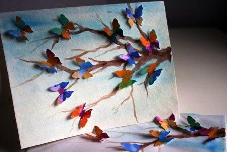 Открытки с бабочками своими руками 1