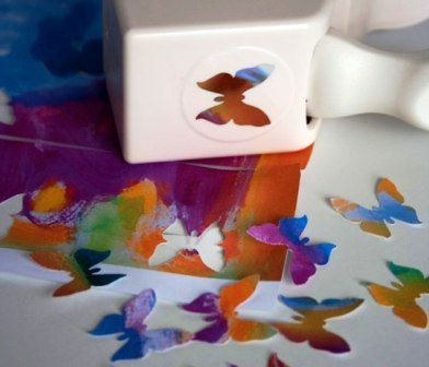 Центр бабочки с изнаночной ее стороны