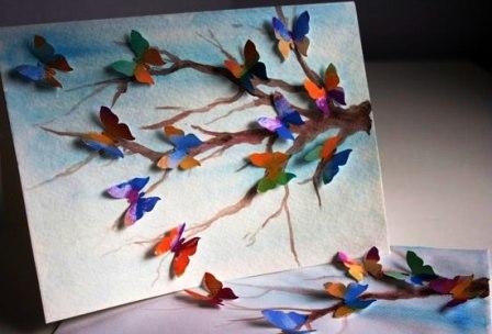Открытки с бабочками своими руками (6)