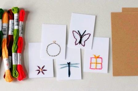 открытки с вышивкой своими руками