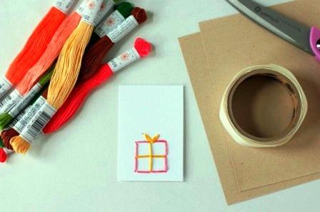 открытки с вышивкой своими руками1
