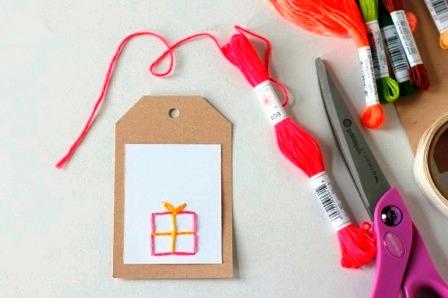 Открытки с вышивкой своими руками (4)
