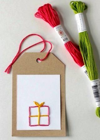 Открытки с вышивкой своими руками (6)