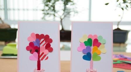 Романтическая открытка своими руками (1)
