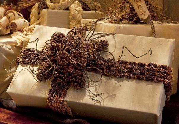 упаковка новогодних подарков +своими руками