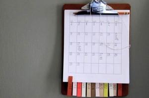 сделать самой календарь