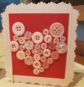 открытка с пуговицами