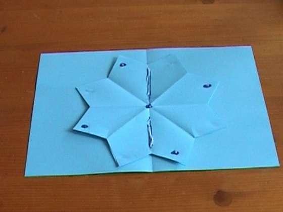 Объемная открытка с цветком. Мастер-класс.