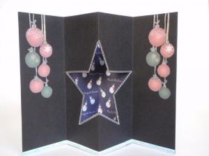 Объёмная открытка на Новый год, сделанная своими руками
