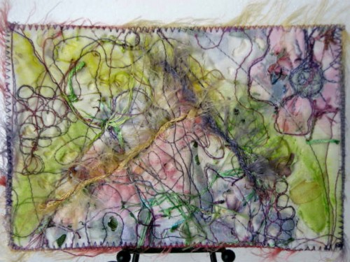 Открытки из ткани