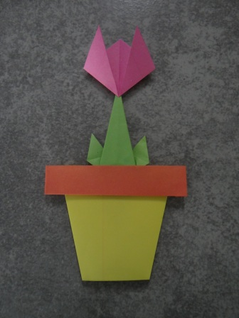 Открытка оригами Тюльпан (3)