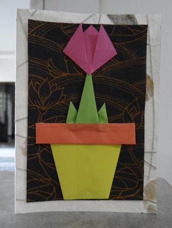 Открытка оригами Тюльпан (12)