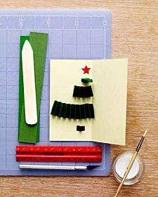 Как сделать новогоднюю открытку (2)