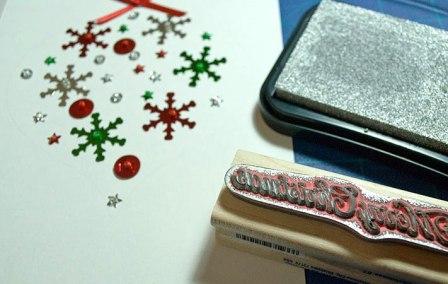 Открытка ручной работы на Новый год (10)