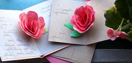 Роза открытка маме своими руками