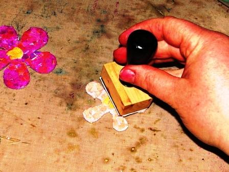 Мозаика из яичной скорлупы - на открытке (7)