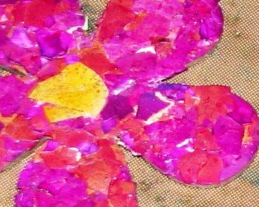Мозаика из яичной скорлупы - на открытке (8)
