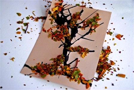 Осенние открытки своими руками (6)