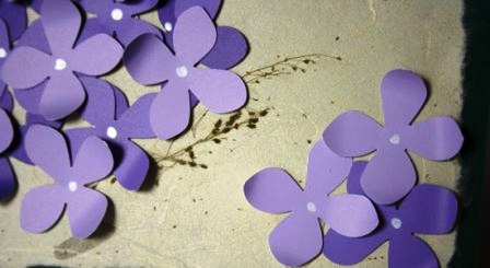 Открытка своими руками - цветок (6)