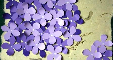Открытка своими руками - цветок (7)