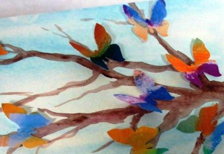Открытки с бабочками своими руками (5)